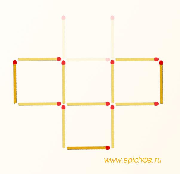 получить 3 квадрата из решетки - ответ