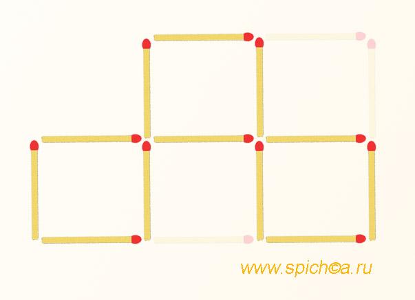 Из пяти 3 квадрата - ответ к задаче