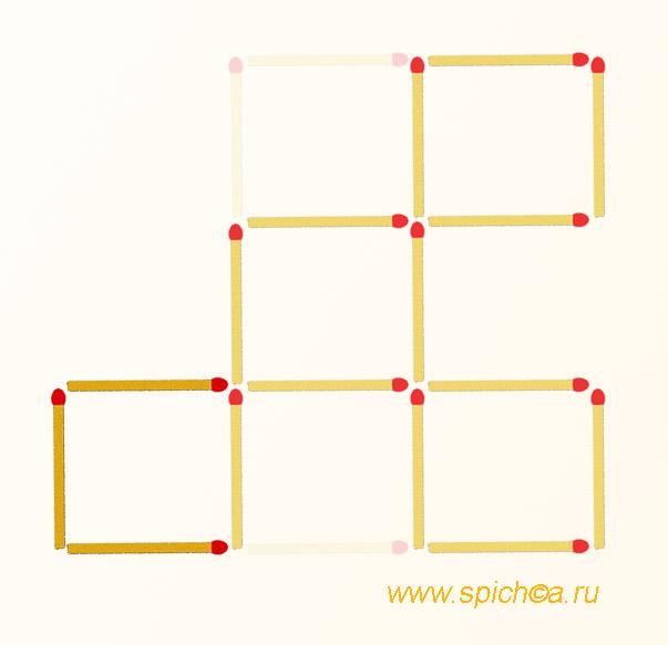 Из 5 квадратов четыре - решение