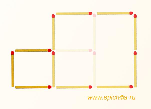 Из спичечного окна 2 квадрата - решение