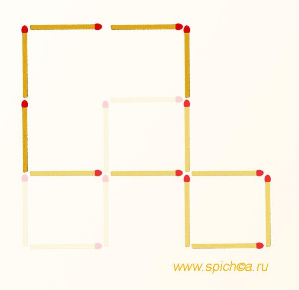 Из 3 квадратов два - решение