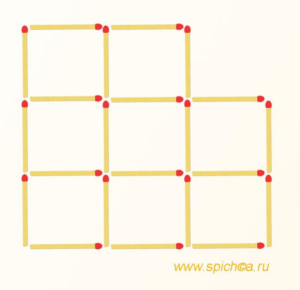 Из 8 квадратов 7