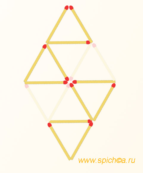 Оставить 4 треугольника - решение