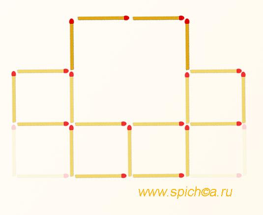 Из 6 квадратов пять - решение