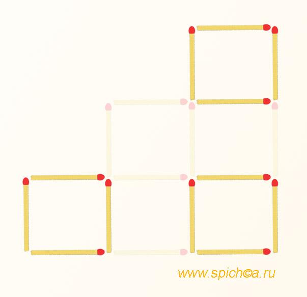 Из 6 квадратов три - решение 2