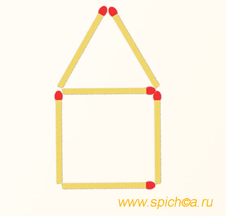 Из спичечного гаража 3 треугольника