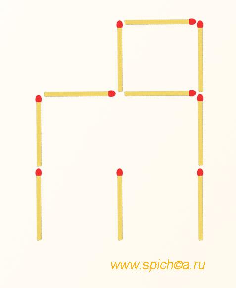 Из груды спичек 2 квадрата