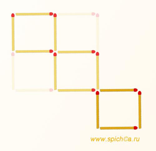 Из 4 квадратов три равных - решение