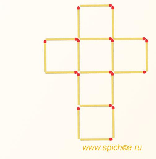 Из креста 4 квадрата
