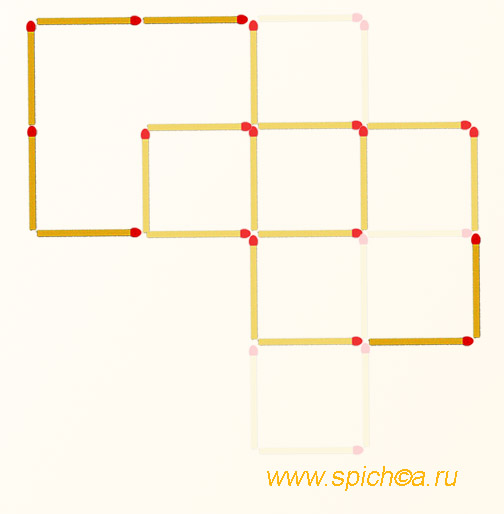 Из креста 4 квадрата - решение