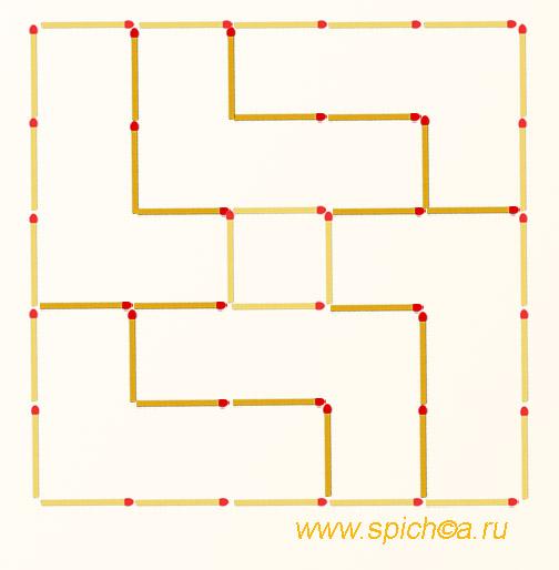 Участок 5х5 поделить на 6 частей - решение