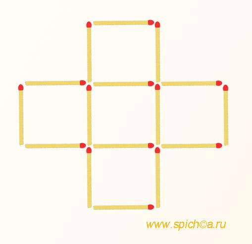 Из креста три квадрата