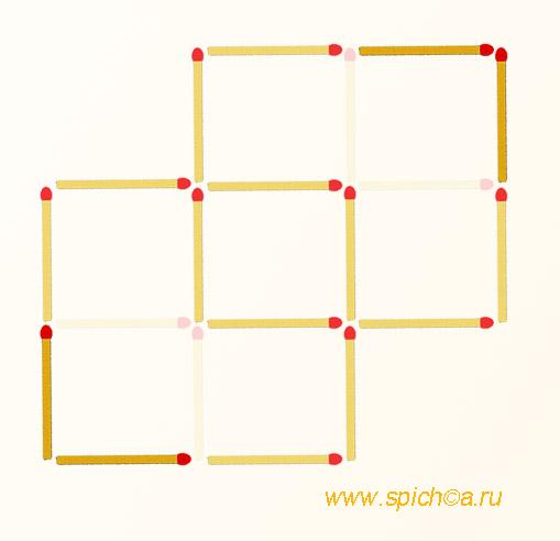 Из креста три квадрата - решение