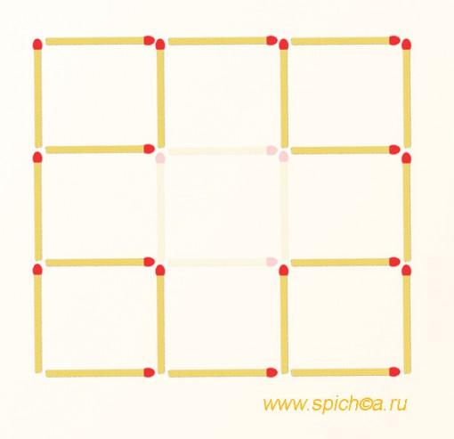 Из 9 квадратов пять - решение