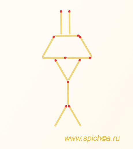 Из лампы 5 треугольников