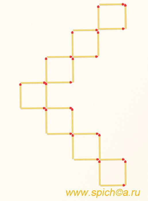 Из 7 квадратов девять