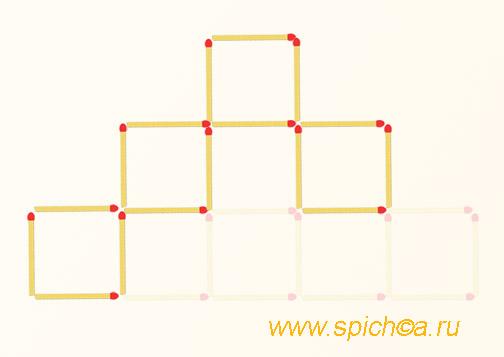 Из 9 квадратов четыре - решение