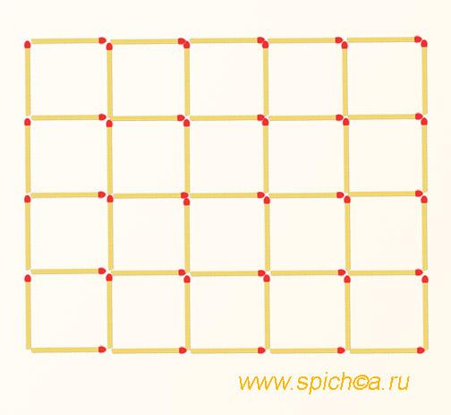 Из 20 квадратов десять