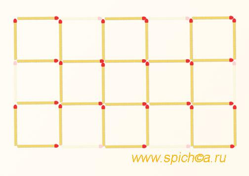 Из 15 квадратов девять - решение