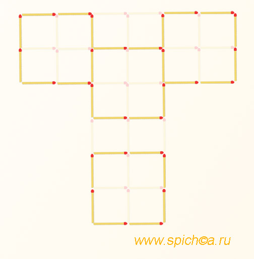 Из 20 квадратов четыре - решение