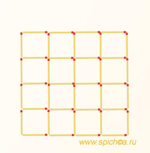 Из 16 квадратов 13-ть