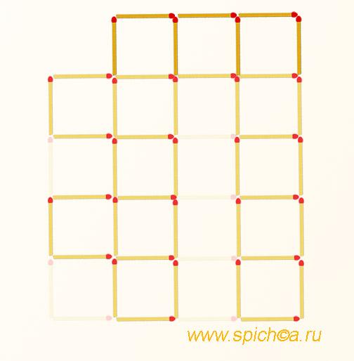 Из 16 квадратов 13-ть - решение