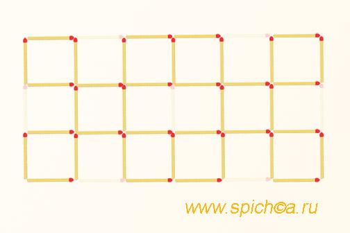 Из 18 квадратов десять - решение