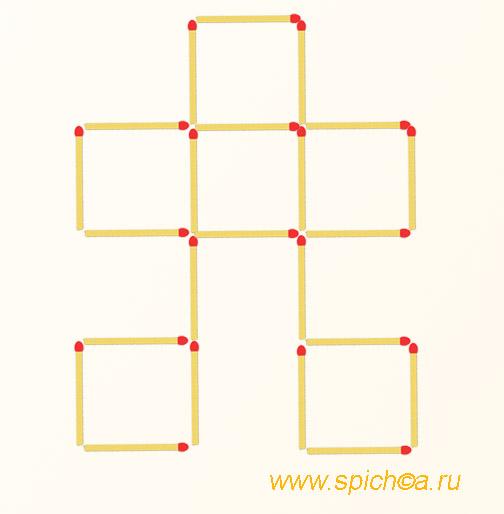 Из башни 6 квадратов