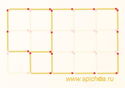 Из 15 квадратов три - решение
