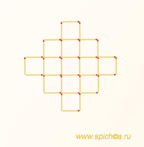 Из 13 квадратов шесть