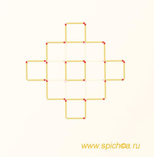 Из 13 квадратов шесть - решение