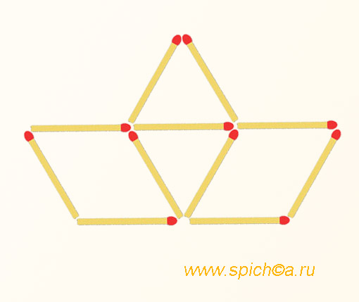 Из кораблика 4 треугольника