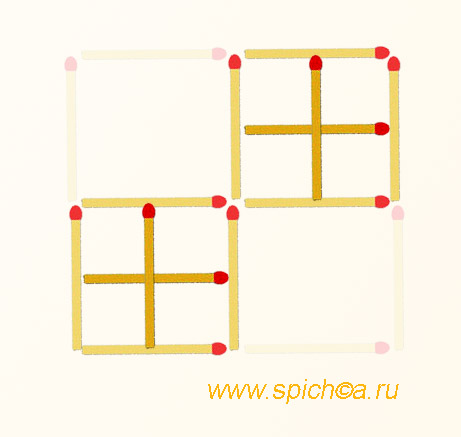 Из 4 квадратов 10 - решение