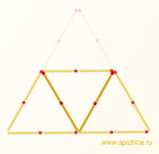 Из 2 треугольников три - решение