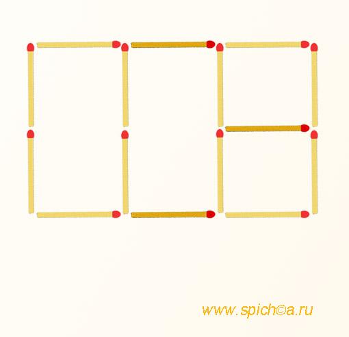 Из 2 прямоугольник 4 квадрата - решение