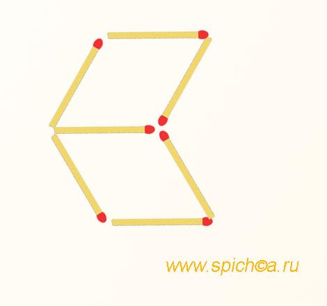 Из 2 ромбов три треугольника