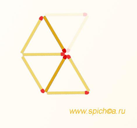 Из 2 ромбов три треугольника - решение