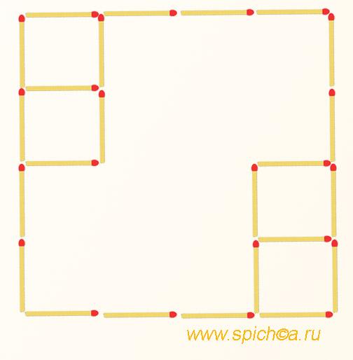 Из 5 квадратов три