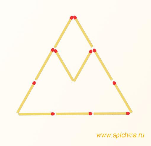Из треугольника и ромба три
