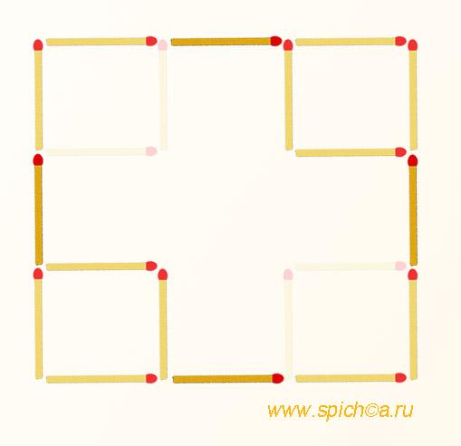Из 4 квадратов три - решение