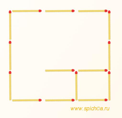 Из двух квадратов три