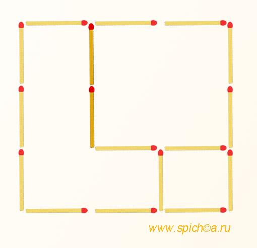 Из двух квадратов три - решение