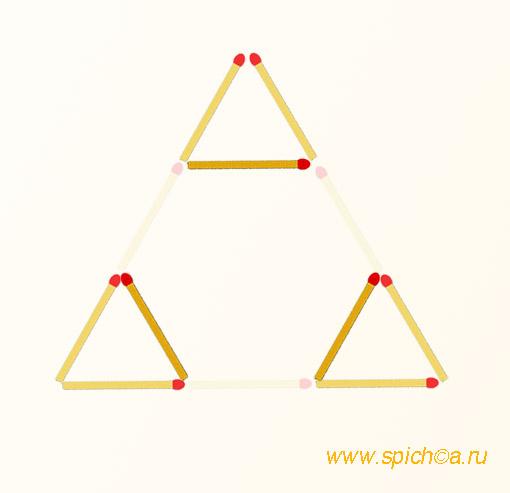 Из 1 треугольника три - решение