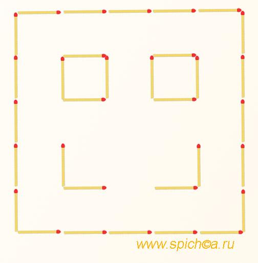 Из смайла два квадрата