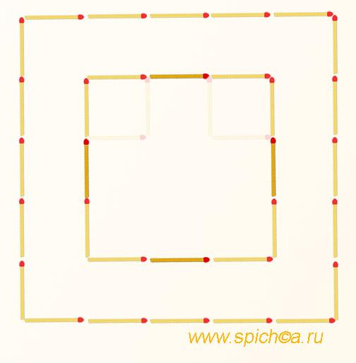 Из смайла два квадрата - решение
