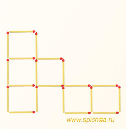 Получить 5 квадратов из шести