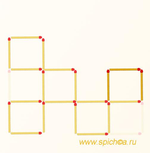 Получить 5 квадратов из шести - решение