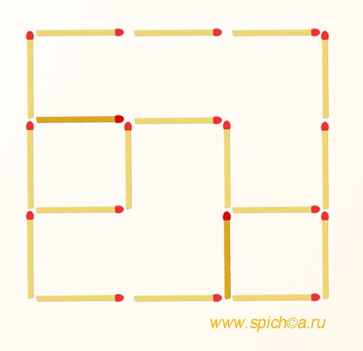 Из фигурок тетриса 4 квадрата - решение