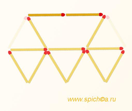 Из 5 треугольников четыре - решение