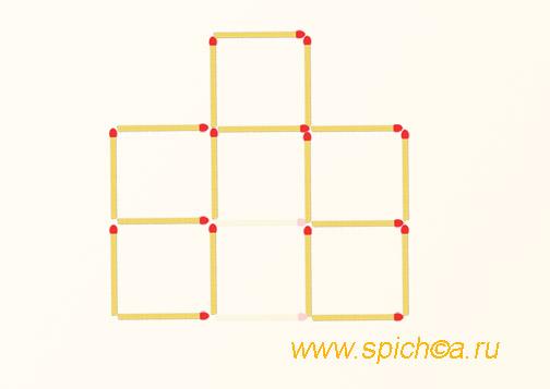 Из 7 квадратов пять - решение